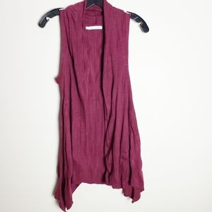 ♠️2/$20 Maurices Burgundy Sleeveless Tunic Vest